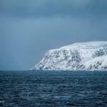 Wit in blauw, om de hoek de Noordkaap. © blue ice | bert westenbrink