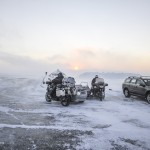 Motorrijders op de Noordkaap. © blue ice | bert westenbrink