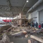 In Ålesund wordt een vissersboot uit de 19e eeuw herbouwd. In de herfst van 2015 wordt de boot in gebruik genomen. Kinderen en jongeren kunnen dan maritieme ervaring opdoen op het schip. © blue ice | bert westenbrink